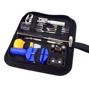 SUMERSHA Outil de Réparation Montre Kit professionnel d'horlogerie Trousse à outil pour horloger 13pcs
