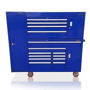 US PRO TOOLS Boîte à outils Bleu à it Up massive Armoire avec armoire latérale pleine taille