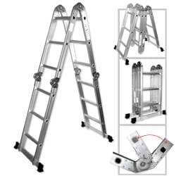 Poids léger multifonction 12'Escabeau en aluminium–Capacité de 136,1kilogram