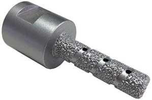 Professionnelle Diamant Fraise à doigts Ø 10mm M14Foret pour carrelage dur Foret diamanté à sec Granit Marbre