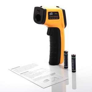 BlueBeach® Thermomètre de température numérique infrarouge IR (-50 ° C à 330 ° C)