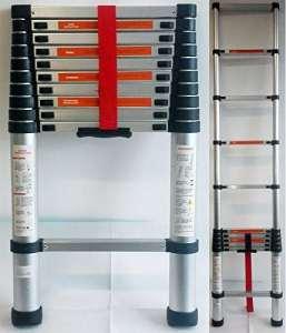 Dp Design Escabeau télescopique professionnel en aluminium extensible, 3,2m