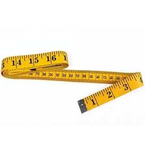 DXG 120-inch 300cm souple Durable Ruban pour couture Règle Tailor Chiffon, jaune jaune