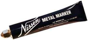 Nissen Marqueur à bille en métal, 3/16″, Orange, 12