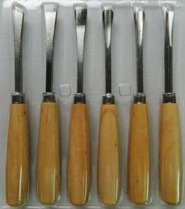 6 Gouges pour gravure sur bois sculpture gouge menuiserie couteau bricolage