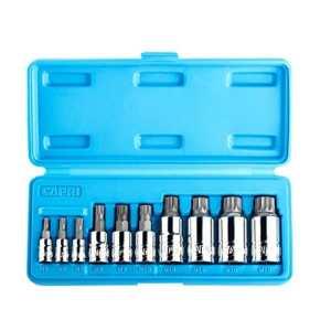 Capri Tools XZN Triple Square Spline Wrench Bit Socket Sets, S2 Bit, 10-Piece by Capri Tools
