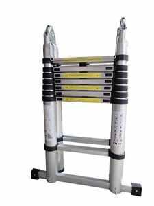 DP Design® Escabeau télescopique extensible professionnel en aluminium 5.6M échelle télescopique 2x 2.8