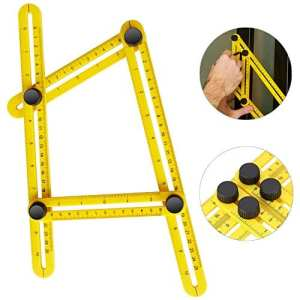 iRainy Règle multi-angle, règle pliable Modèle Outil mesurant tous les angles pour Ingénieurs Artisans, constructeurs
