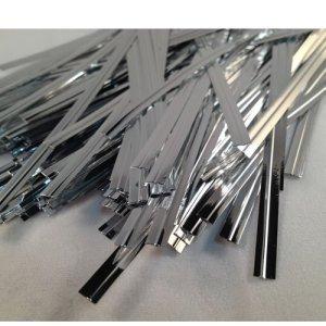 100Argent 10,2cm (100mm) Métallique Twist Ties/mastics de sac plastique coloré avec fil
