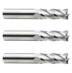 Lot de 3HSS 4Couper Fraise à queue 6mm x 6mm tige longue 68mm (L)