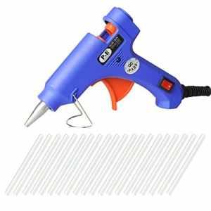 PONCTUEL ESCARGOT Pistolet à colle Fonde de Haute Température Electronique DIY Bricolage et Réparation Rapide avec 20 Bâtons de Colle 10cm