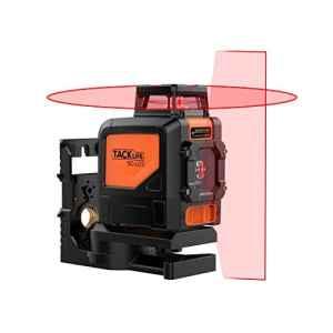 Tacklife SC-L03 Professionnel Niveau Laser Crois 30 m /Grand Angle de Laser Rouge Verticale 110°et Horizontal 360°/Mode Intérieur et Extérieur /Verrouillable /Support Pivotant Magnétique