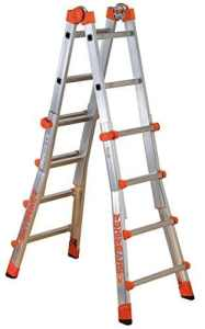 Gierre Peppina Aluminium Telescopic Ladder (131, number of steps to section 4 of 4) by Gierre