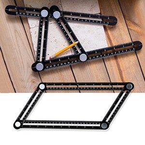 Gledto Angle-izer Template en Alliage d'aluminium Template Réglage de l'outil de mesure Règle Echelle 25cm * 12cm Flexible Multi-Angles Instrument de Mesure