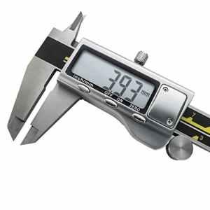 Pied à Coulisse Digital Numérique haute précision de PRECISION TOOLZ   150 mm / 6 pouces en acier inoxydable   Grand écran LCD, conversion pouce/millimètre   Outil de mesure durable avec batterie et étui de protection inclus