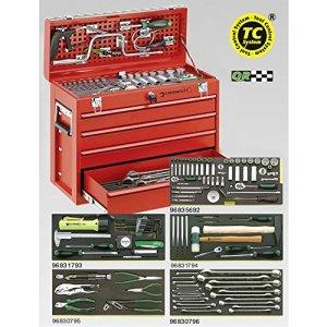 Acier volonté Line Set de maintenance dans boîte Transport numéro 13216/4, zöllig, 13214A