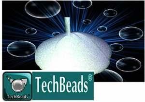 25kg MV4 TECHBEADS 150 – 250 microsphères en verre MICRON pour sablage et décapage finition de très bonne qualité durable et dure + 6.0 mohs sablage