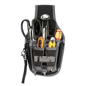 Seasofbeauty 9 en1 Ceinture-sacoche électricien Ceintures Porte-outils Multifonction Noir Sac Tournevis Kit Support