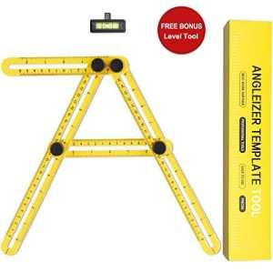 Angle-izer Template Tool, Lookka règle de mesure multi-angles instrument de mesure avec règle niveau