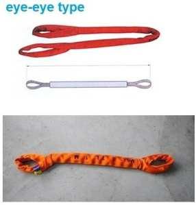 Gowe 80tx5m — 40m 6: 1haute résistance Eye-eye Soft Round Sling industrielle levage Sling Sangle de fibre de polyester Arbre en verre Auto Longueur: 6M