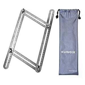 Multi-Angle Règle Ruler Mesure, Kungix Règle Outil Angle-izer Modèle en acier inoxydable