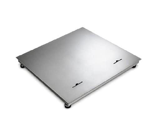 wägebrücke en acier inoxydable 1500x 1500x 110mm: max 3000kg: E = 1000g: D = 1000g: