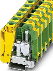 Phoenix 3074143–Borne Rail uslkg35N 125A 16mm Jaune Vert