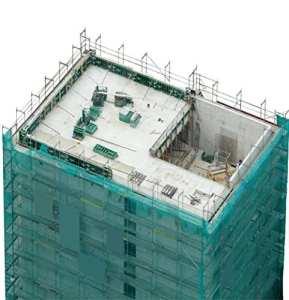 Échafaudage Filet de protection 50g/m², vert