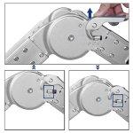 3.7m Échelle Télescopique Pliante en Aluminium Échelle Multifonction Extensible 16 Echelons 150 Kg Capacité Norme EN131( SANS PANNEAUX)