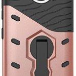 Motorola Moto G5S Plus Coque silicone, Lenovo Moto G5S Plus Case, Moto G5S Plus Protection, Nnopbeclik® 2in1 Conception «Armor Séries 3D Style» en Bonne Qualité Hard Case Slim Housse «XT1805» (5.5 Pouces) Resistant Absorption de Choc / Design Texture Backcover / 360°Rotation Stand Support Incassable Case Anti-doigt Scratches Etui Boîtier Couverture Rigide Retour étui «NOT FOR G5S 5.2» – [Pink]