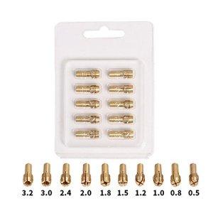 Godagoda Mini Perceuse Électriques Accessoires d'outils Grinder Électrique Miniature Drillthick Laiton Chuck Set Acier 1.6mm/2.4mm/3.2mm différente taille Tête de Rechange