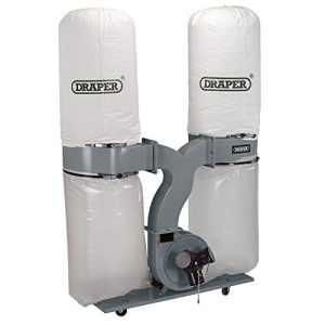Draper 809461500W Extracteur de poussière de 153litre–Blanc (2pièces), blanc, 80947, 230V