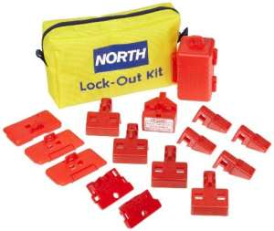Nord de sécurité électrique coupe-circuits Lockout Pouch kit, 10 Pieces, 1
