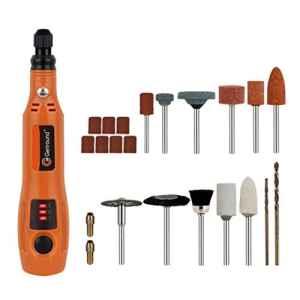 outil rotatif electrique, Genround mini outil rotatif multi-usage sans fil – de nettoyage et de polissage électriques, accessoire outil rotatif