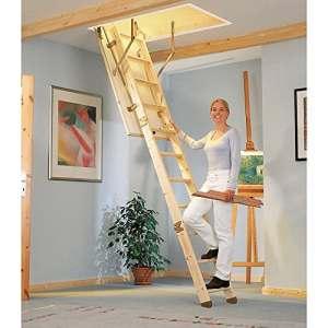 Dolle sol escalier Compact 120/60cm droite, Épicéa