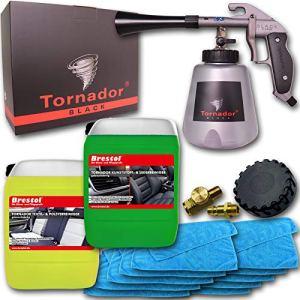 Brestol + Bendel TORNADOR Black Z-020S Kit de Nettoyage Universel pour Textiles 5 l + 10 Chiffons en Microfibre