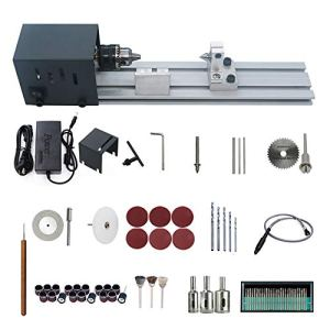 KKmoon Mini Tour Machine à Polir Machine à Bois Artisanat Bricolage Rotary Tool Set Version standard