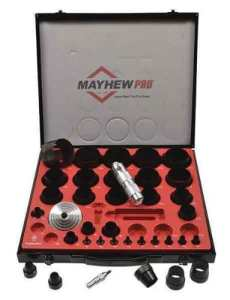 Mayhew 660161/20,3cm vers 2–3/20,3cm Imperial SAE creux Punch Ensemble