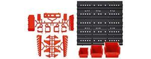 Lot de 45 boîtes de rangement avec panneau à outils, boîte et crochets 120 x 40 cm