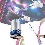 Bescita Stab Bâton magique portable Magique Magique Magique Portable – Nouveauté – Wizzard – Anniversaire Enfant – Anniversaire Enfant – Fasching – Lumière & Sound, noir