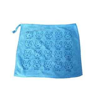 ELENXS Nouveau Lapin Lapin Microfibre Place Serviette Bébé Nouveau-Né Cuisine Nettoyage des Mains Wipe Serviette de Bain Saliva Vaisselle Tissu Mouchoir Bleu Ciel