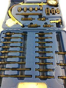 Generic Rehensi Testeur de Compression réhensif Diesel Master Comprehens Kit Complet Essence et Comp Kit de Test pour Voiture, camionnette, fourgonnette