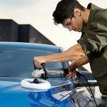 Polisseuse, GALAX PRO 1200W 3000RPM Machine à polir Ponceuse Tampon Waxer, 6 Vitesse Variable avec Soft-Start, poignée en D, 180mm Disque de Laine, pour le polissage et le cirage de voitures