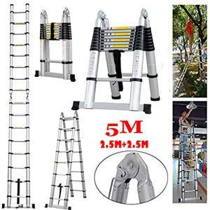 A-Frame Échelle télescopique télescopique en aluminium Capacité de charge 150 kg