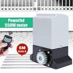 Kit pour Portail Coulissant Automatique Moteur Portail Coulissant, 12m²/Max + 2 Télécommandes Infrarouge + 1200KG Max(A)
