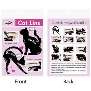 EdBerk74 Femmes Cat Line Maquillage Pour Les Yeux Eyeliner Unique Modèles De Pochoirs Maquillage Outils Kits Pour Les Yeux Élégant Eyeliner Outils