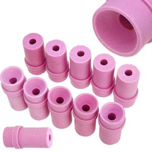 Lopbinte Céramique le Sablage D'Air de Bec de Sablage Emboutit pour les Outils Pneumatiques de Dynamitage 10Pcs 2X1.5X4Cm