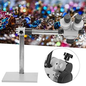 Loupe de bijoux professionnelle, imagerie claire, microscope stéréoscopique binoculaire à zoom continu 7X-45X,microscope en fonte de zinc avec une base épaisse et épaisse,outil plus robuste pour un