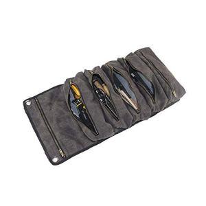 Rouleau à outils multifonction, pochette à rouleau, seau à outils en toile cirée, sac à outils, petit porte-outils pratique, gris foncé