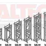 ALTEC Rollfix 1000, hauteur de travail de 10 m, neuf, échafaudage roulant, homologué par le TÜV «Fabriqué en Allemagne», aluminium échafaudage, échafaudages en aluminium, échafaudage roulant, échafaudage de salle, plate-forme de travail